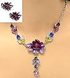 crystal necklace set 49