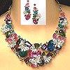 crystal necklace set 84