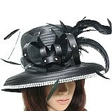 Ladies satin braid church hat
