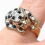 vintage leopard ring