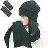 chenille hat glove scarf set #40