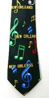 NEW ORLEANS MEN'S TIE IN MUSICAL THEME