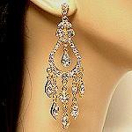 Chandelier earrings in gold plating