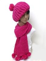 knit hat scarf set