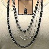 LONG SWINGING NECKLACE WITH MATCHING EARRINGS #63