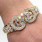 Iridescent crystal bracelet