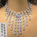 dramatic rhinestone necklace set