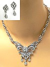 Vintage Crystal Necklace Set