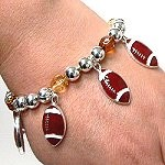 football charm bracelet
