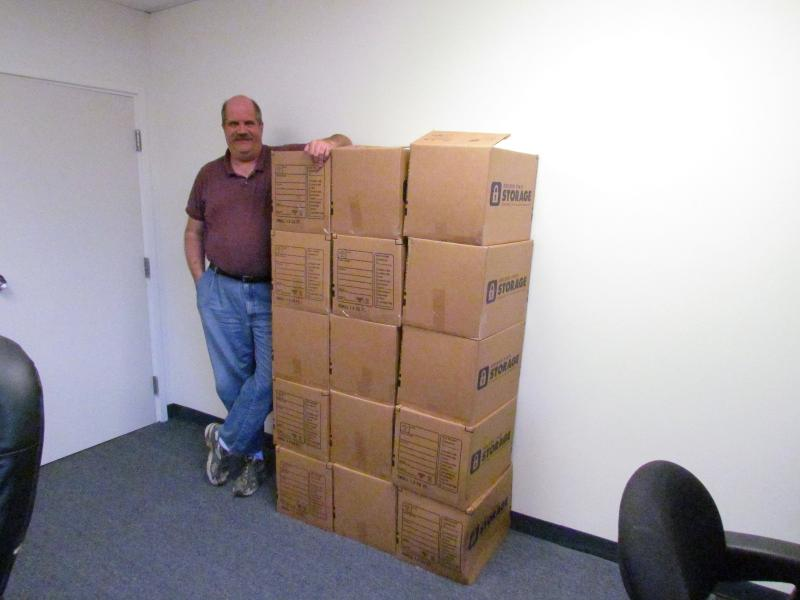 Steve Murphy with 1,949 CDs from Nancy Reichenbach