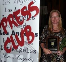 Karen Pelland LA Press Club Award