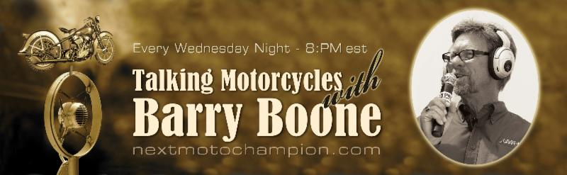 Talking Motorcycles tonight at 8pm Eastern with the Producer and the Director of Why We Ride!
