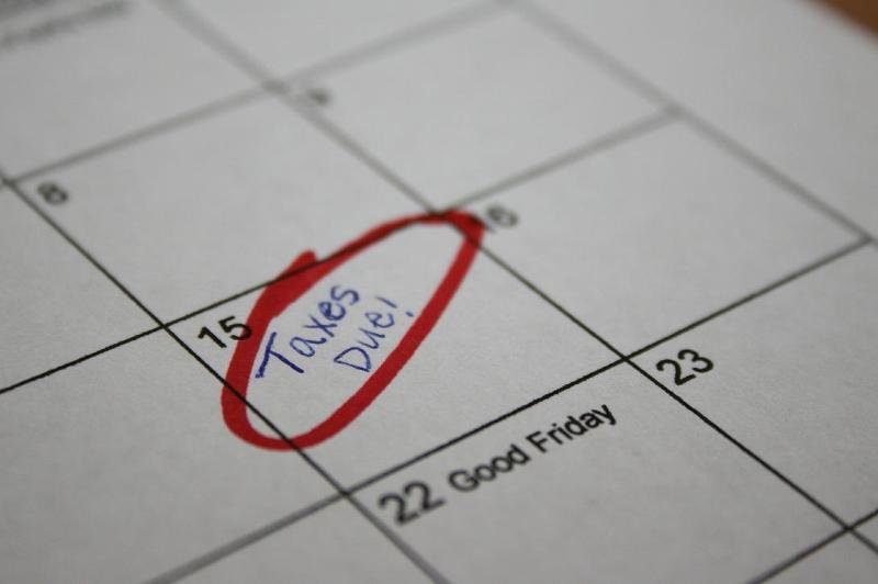 Taxes Due April 15th