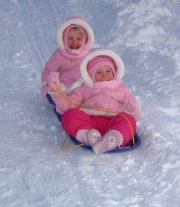 sledding twins