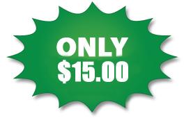 $15 green starburst