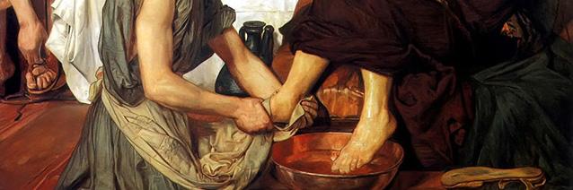 Jesus Washing Peter's Feet (1852-56/detail), Ford Madox Brown, Tate Gallery, London