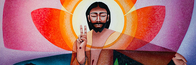 The Cosmic Christ (detail) by Sr. Nancy Earl, © 2008, CAC archives