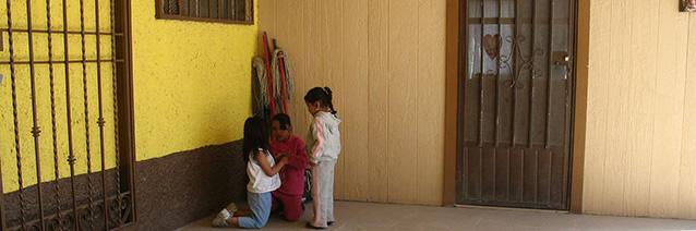 Three Little Girls_ Juarez_ Mexico_ 2009. CAC archives.
