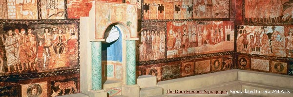 The Dura-Europos Synagogue, Syria, dated to circa 244 A.D.