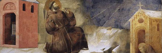 Stigmatization of St. Francis (detail), 1297-1300, Giotto do Bondone, fresco, Upper Basilica of St. Francis, Assisi, Italy