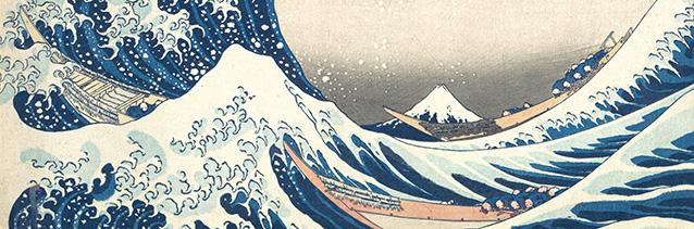 'The Great Wave off Kanagawa' (detail of woodblock print), Katsushika Hokusai (1760-1849).