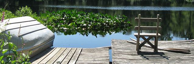 Still Waters Dock and Lake _detail__ by Joelle Chase. CAC archives.
