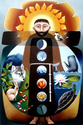 St. Francis of Assisi painting by Sr. Nancy Earle