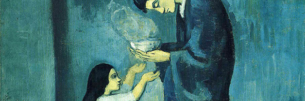 La soupe _The soup_ detail__ Pablo Picasso_ 1902-03_ Art Gallery of Ontario_ Toronto_ Canada.