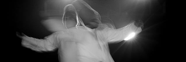 Dervishes (photo detail) performing at Ruhaniyat Purana, Qila, 2011, by Ajaiberwarl. Wikimedia Commons.