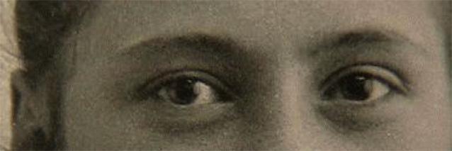 St. Thérèse of Lisieux, age 15 (detail), April 1888.