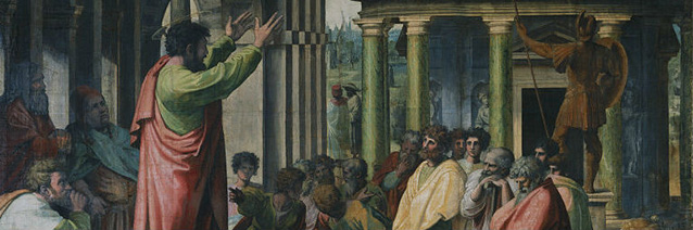 St. Paul Preaching in Athens (detail) by Raphael (1483-1520), Royal Collection of the United Kingdom