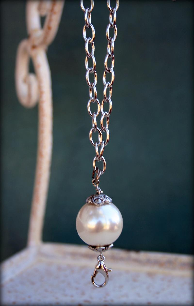 "24"" Pearl Drop Necklace"