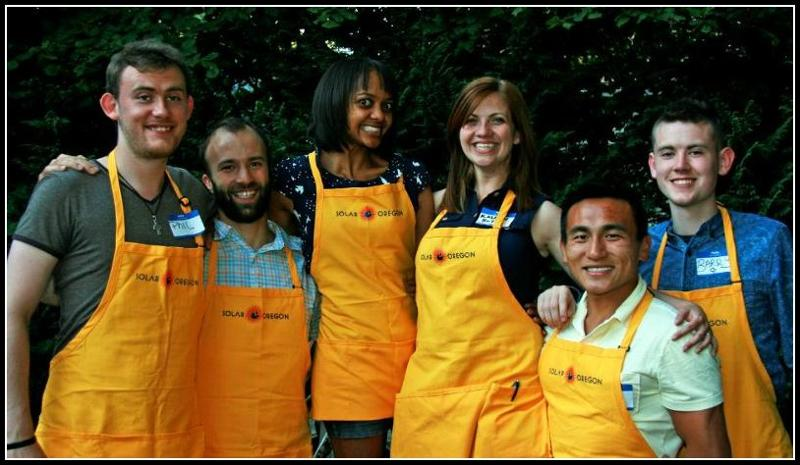 Volunteers at Solar SUNday