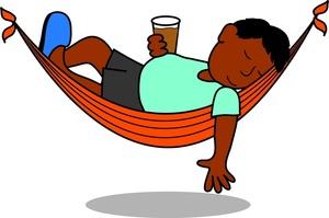 Relax  hammock Kids Relaxing Clipart