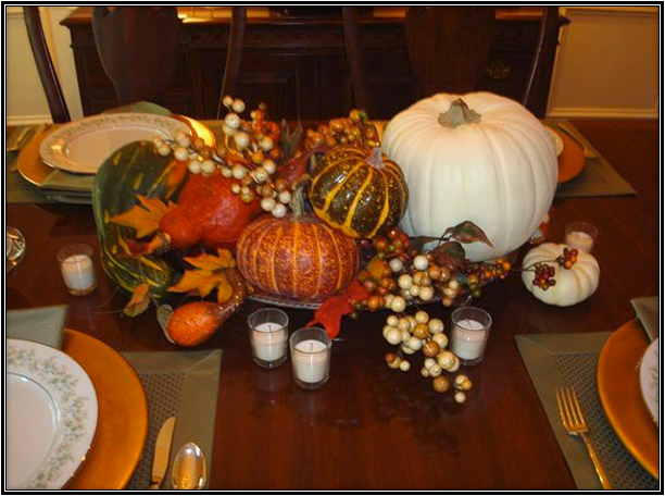 See Pumpkins decorations for Thanksgiving.
