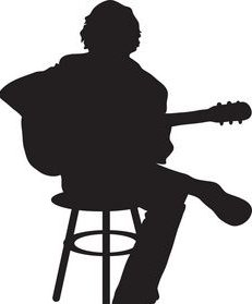 silhouette guitar player