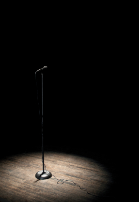 spotlight and mic
