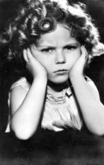 shirley temple frowning