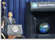 obama globe dynamic planet