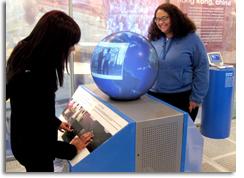 intel magic planet dynamic digital video globe display