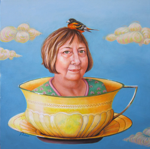 woman in teacup