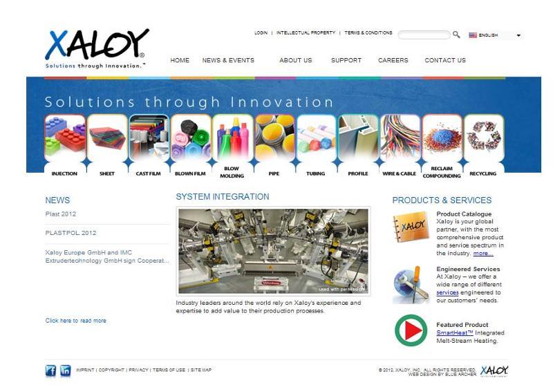 Xaloy new website 2012
