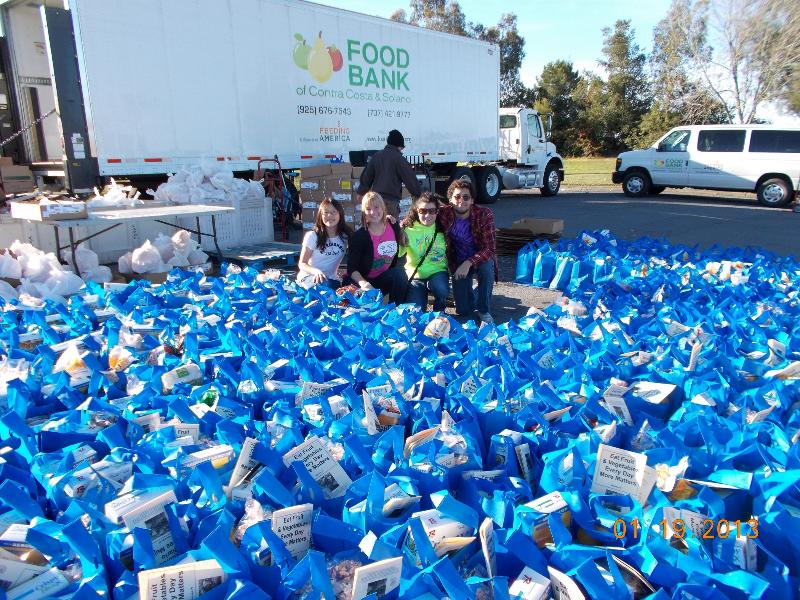 Interact Club at Food Bank