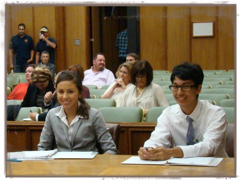 Interns at July 2013 BOS Meeting