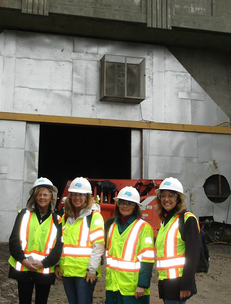 Candace Andersen & Staff at West End of Tunnel
