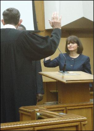 Candace swearing in January 2013