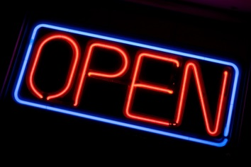 open sign no background