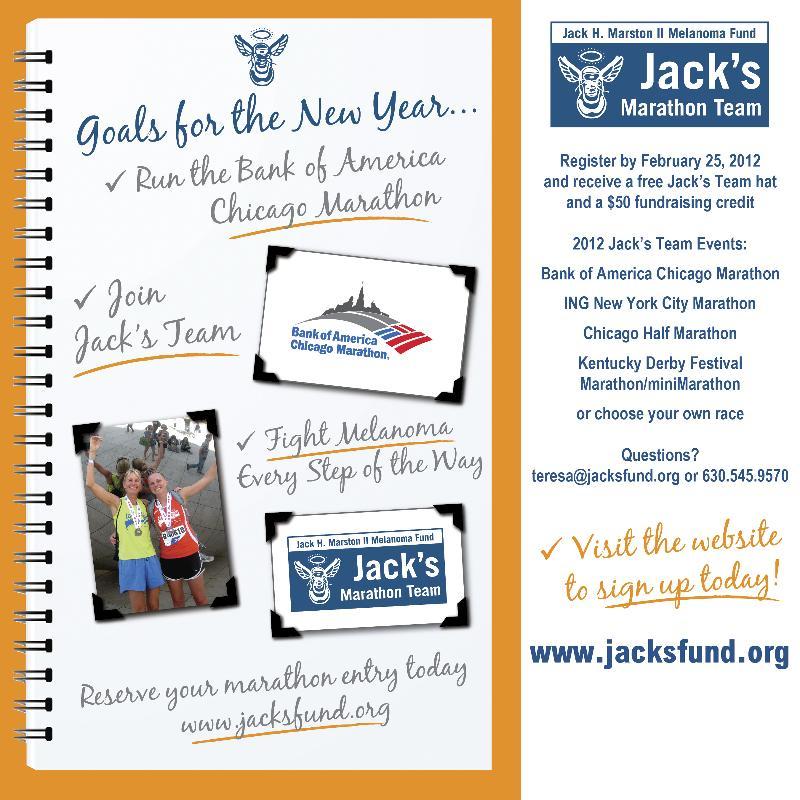 2012 Marathon Goals Card