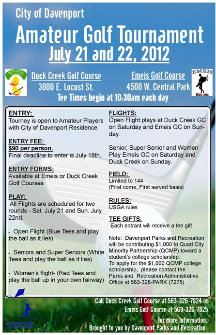 Amateur Golf Tournament New