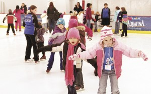 some kids skating